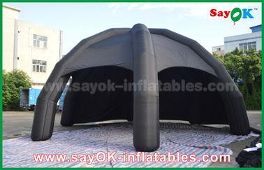 Porcellana Tenda gonfiabile nera dell'aria del PVC/tenda del ragno cupola di pubblicità con il ventilatore fornitore
