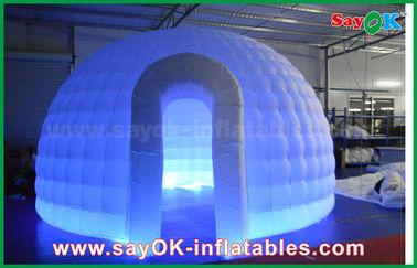 Porcellana tenda rotonda della cupola dell'iglù del panno di 210D Oxford della tenda gonfiabile dell'aria con la luce del LED fornitore