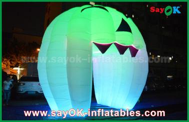 Porcellana Decorazioni gonfiabili sveglie di festa che accendono la porta del fantasma/grande zucca gonfiabile fornitore