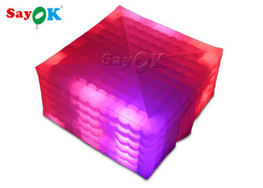 Square Giant LED Light Inflatable Air Tent For Fairs Event SGS ROSH