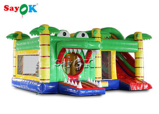 Customized School Crocodile Inflatable Bouncy Castle With Blower
