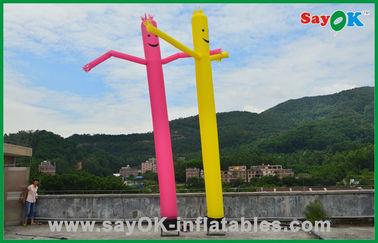 Porcellana Decorazioni di festa dell'uomo gonfiabile uomo commerciale dell'aria di dancing della metropolitana giallo/rossa fornitore