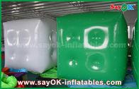 Porcellana Annunciando il pallone gonfiabile verde bianco/il pallone elio del cubo con il logo stampi fabbrica