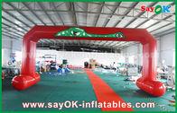 Porcellana L'arrivo rosso di inizio stampato PVC incurva il doppio arco gonfiabile di cucito dell'entrata fabbrica
