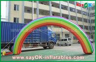 Porcellana arco dell'entrata di 4mH x di 7mL/panno gonfiabili giganti di Oxford arco dell'arcobaleno per l'evento fabbrica