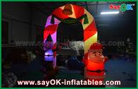 Porcellana Arco gonfiabile della decorazione di Natale dell'arco del panno di Mylon con la luce del LED fabbrica