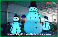 Porcellana Pupazzo di neve gigante di Natale delle decorazioni gonfiabili di festa del panno di Oxford per il partito fabbrica