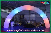 Porcellana portone di nylon di modo dell'arco di illuminazione di Inflatble del panno del diametro di 63cm per la decorazione fabbrica
