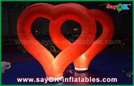 di buona qualità Tenda gonfiabile dell'aria & Cuore gonfiabile di nylon rosso delle decorazioni gonfiabili all'aperto di nozze con la luce del LED in vendita