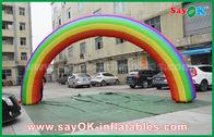 Porcellana Beautiflu e panno durevole di Oxford o arco gonfiabile dell'arcobaleno del PVC con il ventilatore del CE/UL fabbrica
