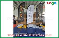Porcellana Tenda piegante di aria della bandiera gonfiabile portatile del coltello per la promozione/pubblicità fabbrica