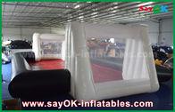 Porcellana grado commerciale bianco del PVC di 0.55mm/del nero su ordinazione Inflatables campo di calcio gonfiabile fabbrica
