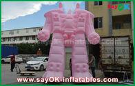 Porcellana Robot gonfiabile rosa del panno/PVC di Oxford per i prodotti esterni di pubblicità fabbrica