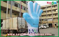 Porcellana Prodotti gonfiabili su ordinazione di Oxford del gigante, modello blu gonfiabile alto della mano di 2m per gli eventi fabbrica