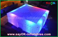 Porcellana Tenda gonfiabile gigante dell'aria di bianco 210 D Oxford con illuminazione del LED per il partito fabbrica