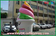 Porcellana Prodotti gonfiabili su misura gigante, gelato gonfiabile per la pubblicità/promozione/partito fabbrica
