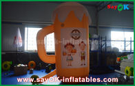 Porcellana Prodotti gonfiabili su ordinazione arancio/tazza e birra gonfiabili per la promozione/partito fabbrica