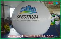 Porcellana Pallone gonfiabile bianco dell'elio del PVC del diametro del gigante 2m per la pubblicità all'aperto fabbrica