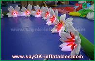 Porcellana fiore gonfiabile di nylon lungo Chai del giglio della decorazione di illuminazione di 8m per nozze fabbrica
