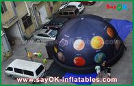 Porcellana 6m cupola gonfiabile portatile del planetario del panno di 210 D Oxford per il cinema con stampa completa fabbrica