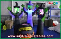Porcellana fantasmi spaventosi gonfiabili del panno di 210D Oxford e barattolo magico con illuminazione del LED per Halloween fabbrica