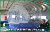 Porcellana decorazioni gonfiabili di festa del diametro di 3m/globo gonfiabile trasparente della neve di Chrismas per annunciare fabbrica