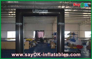 Portone pieghevole impermeabile della porta del quadrato del cubo del PVC del modello gonfiabile dell'arco con il logo