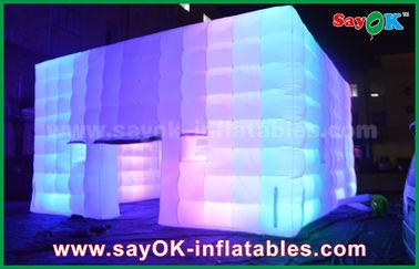 Il PVC all'aperto ha ricoperto la tenda gonfiabile del cubo gigante di luce/aeratore del cambiamento di colore