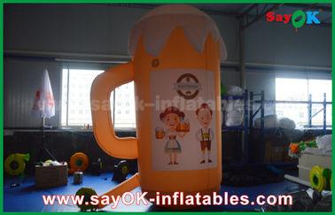 Prodotti gonfiabili su ordinazione arancio/tazza e birra gonfiabili per la promozione/partito