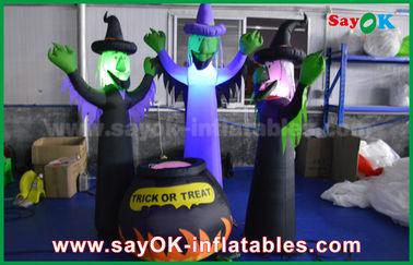 fantasmi spaventosi gonfiabili del panno di 210D Oxford e barattolo magico con illuminazione del LED per Halloween