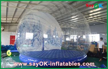 decorazioni gonfiabili di festa del diametro di 3m/globo gonfiabile trasparente della neve di Chrismas per annunciare