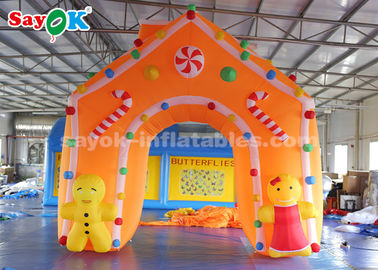 4*4m Oxford Fabric Inflatable Christmas Archway for Holiday Decorations