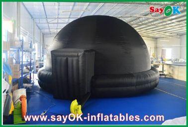 Planetario gonfiabile nero, cinema gonfiabile durevole del cellulare della tenda della proiezione